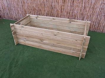 Contenedor de madera para compostaje o cama de siembra elevada, estable, 170 x 85