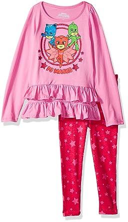 14f773e57edb Amazon.com  PJMASKS Toddler Girls Fashion Top and Legging Set