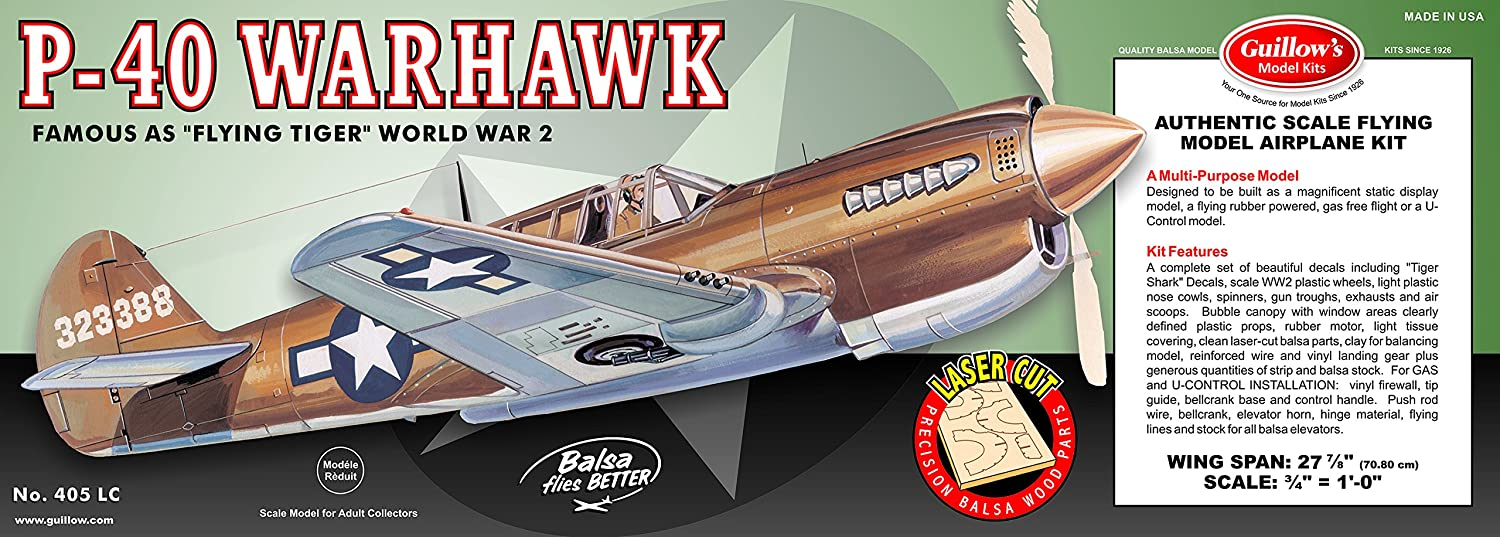 Guillow's P-40 Warhawk Laser Cut Model Kit
