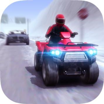 ATV Quad Bike Frozen Highway - Nitro Charged Blast Turbo Racing