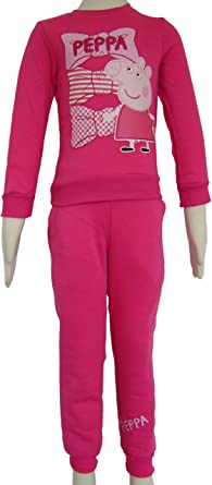 Peppa Pig - Chándal - para niña multicolor Fushia 7 años: Amazon ...