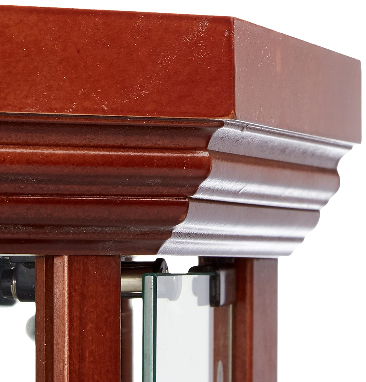 Glass Corner Curio Cabinet With 6 Shelf Medium Brown
