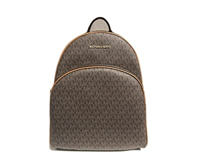 2c1f8f6f169f Amazon.com: MICHAEL Michael Kors Abbey Jet Set Large Leather Backpack  (Brown 2018): Prestige World Fashion