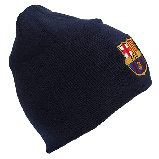 3d5aed3ebf5 FC Barcelona Official Core Winter Soccer Football Crest Beanie Hat (One  Size) (