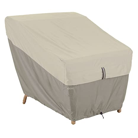 Classic Accessories Belltown Outdoor Patio Lounge Chair Cover   Weather And  Water Resistant Patio Set Cover