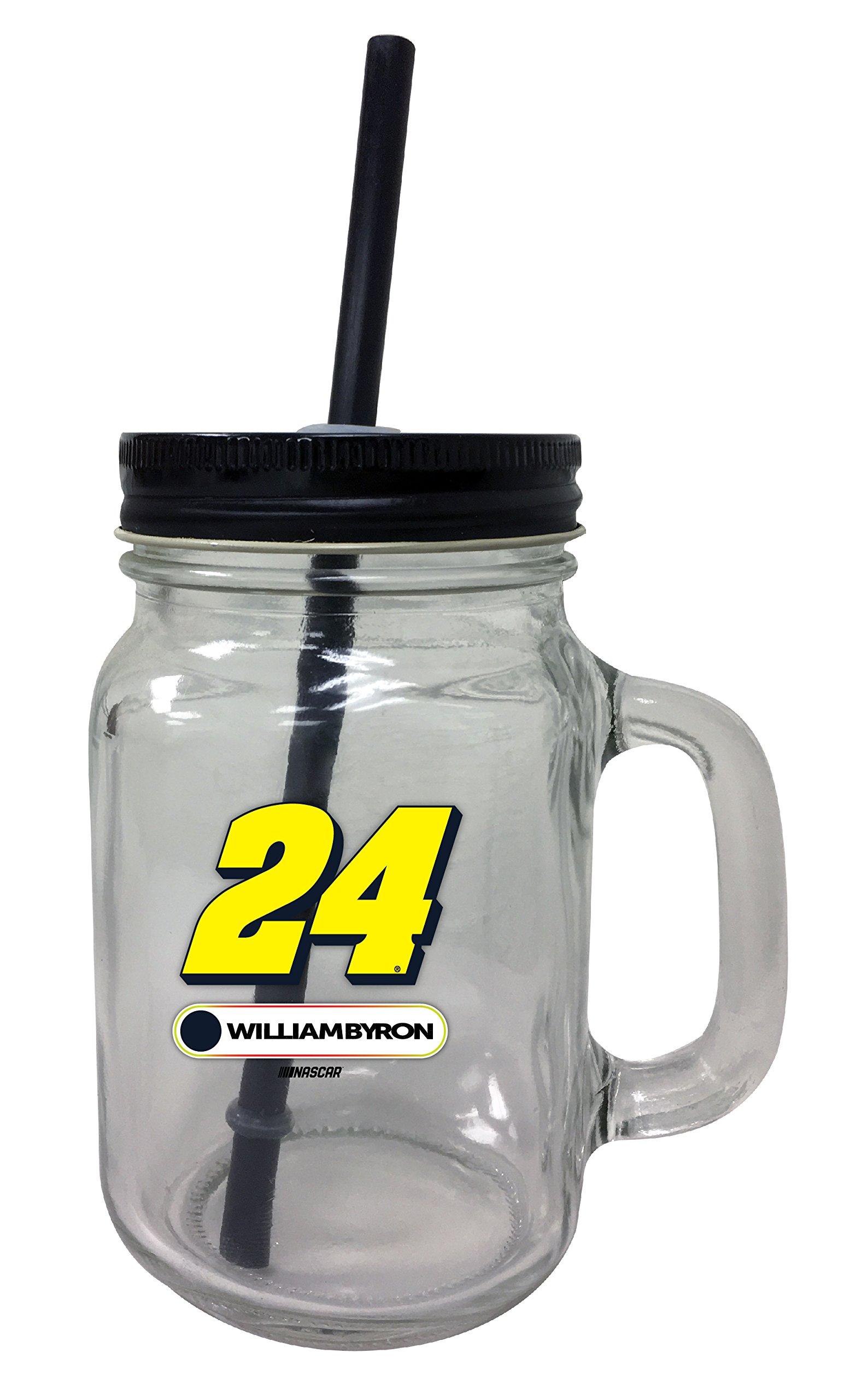 William Byron #24 Mason Jar Glass Tumbler