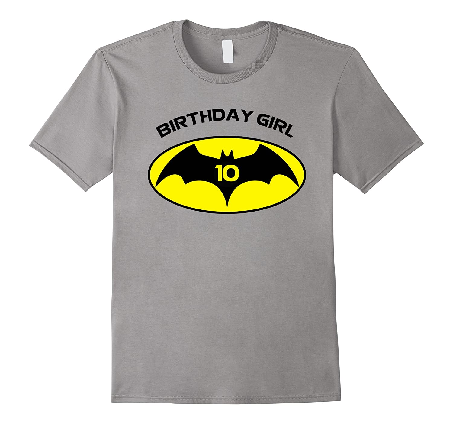 10th Birthday Bat Logo Superhero T Shirt-Art