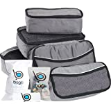 5 Packing Cubes For Travel Luggage or Suitcase + 6 Toiletry Zip Bags Organizer