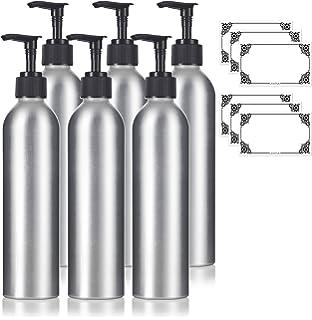 0b02458a6597 Amazon.com: 8 oz Aluminum Empty Refillable White Lotion Pump Bottle ...