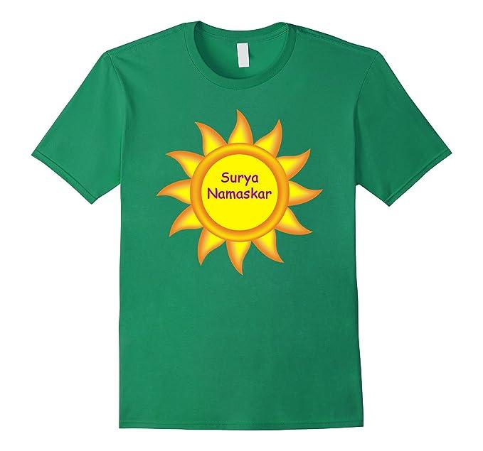 16548952eb6 Amazon.com: Surya Namaskar Sun Salutation Yoga Tee: Clothing