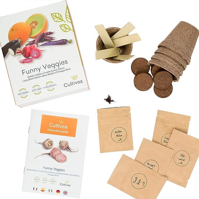 Cultivea – Mini Kit Huerto de Verduras Insólitas – 100% Semillas ...
