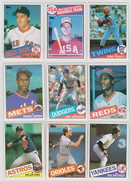 1985 Topps Baseball Complete 792 Card Set With Kirby Puckett Roger Clemens And Mark Mcgwire Rookie Cards Plus Other Stars Including Ryan Brett