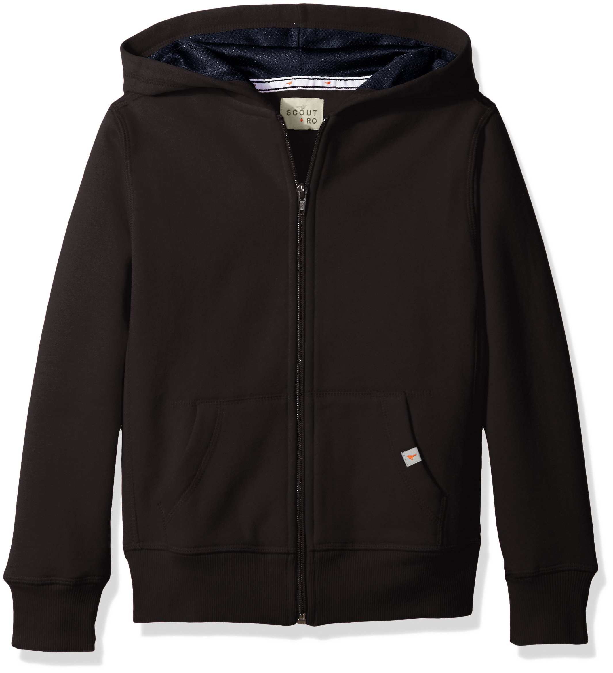 Scout + Ro Little Boys' Basic Fleece Hooded Jacket, Black, 7 by Scout + Ro