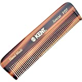 Kent A FOT Handmade All Fine Tooth Saw Cut Beard Comb - Pocket Comb and Travel Comb - Styling Comb or Wet Comb for Fine or Th