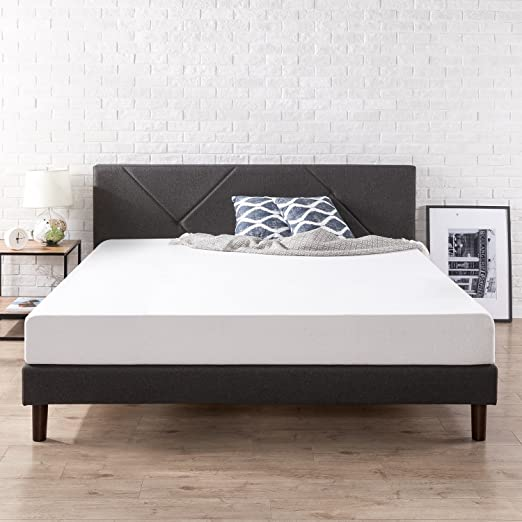 Amazon Com Zinus Upholstered Platform Bed King Kitchen Dining