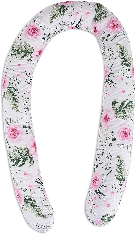 Tour de lit bebe Coussin Serpent B/éb/é coussin respirant 100/% coton motif floral contour de lit pour fille et les gar/çon 300 cm