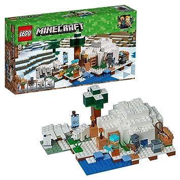 LEGO Minecraft - El Iglú Polar, Juguete de Construcción Creativo del Videojuego de Aventuras de Niños y Niñas de más de 8 Años, Incluye Muñecos ...