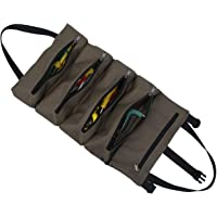 welltop Super Roll Tool Roll, Heavy Duty Oxford Wrench Tools Pouch with 5 Zipper Pockets, Multi-Purpose Roll Up Tool Bag…