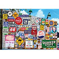 Old Ad Signs Road Signs A 1500 Piece Jigsaw Puzzle by Lafayette Puzzle Factory