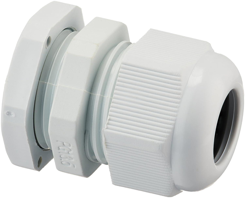 Sourcingmap - 10 piezas de plá stico blanco pg13.5 conectores impermeables prensaestopas a11052800ux0098