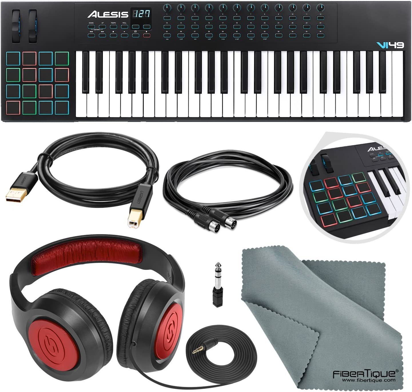 Alesis VI49 - Controlador de teclado y tambor (25 teclas, USB ...