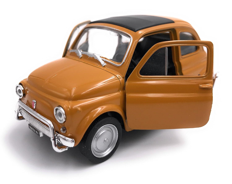 Welly Fiat Nuova 500 Modè le Auto Autorisation Produit 1: 34-1: 39 Emballage D'origine Orange