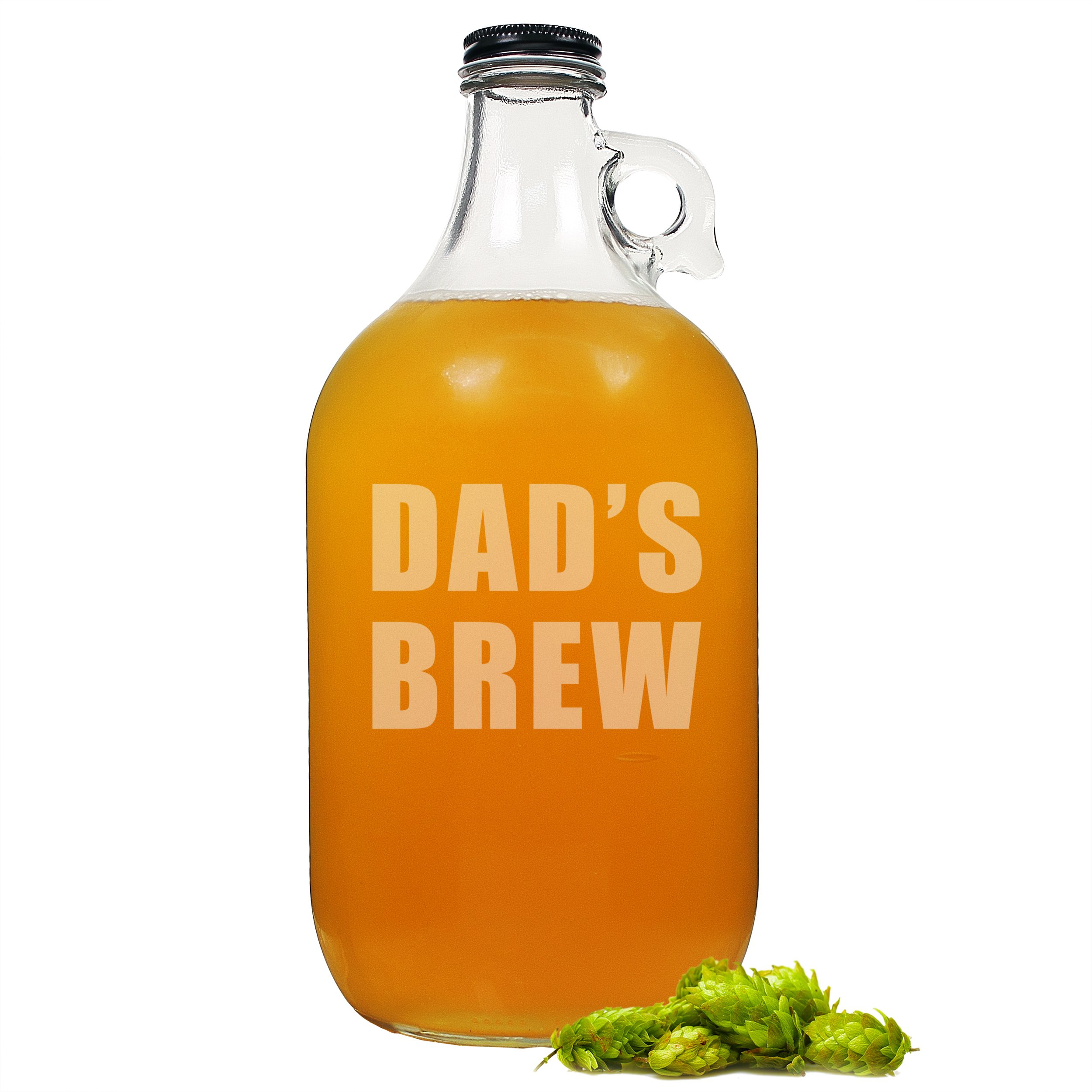 Cathy's Concepts Dad's Brew Glass Growler