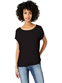 Daily Ritual Women s Supersoft Terry Dolman Short-Sleeve Tie-Back Shirt 0ec9fe90d
