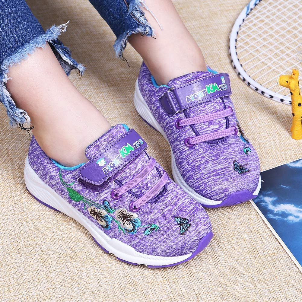 EIGHT KM EKM7006 Fille Mode Chaussures Brod/é Sneakers Mode Fille Sport Running Shoes