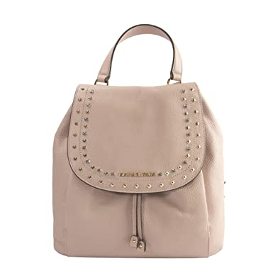d8c74c667042 Michael Kors Jet Set Riley Jewel Studded Pastel Pink Large Leather Backpack