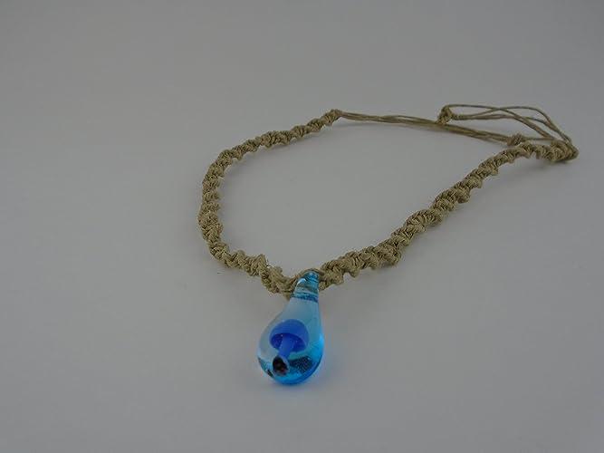 Amazon bright blue glass mushroom pendant hemp necklace 16 24 bright blue glass mushroom pendant hemp necklace 16 24 inches adjustable cord surfer hawaiian beach aloadofball Images