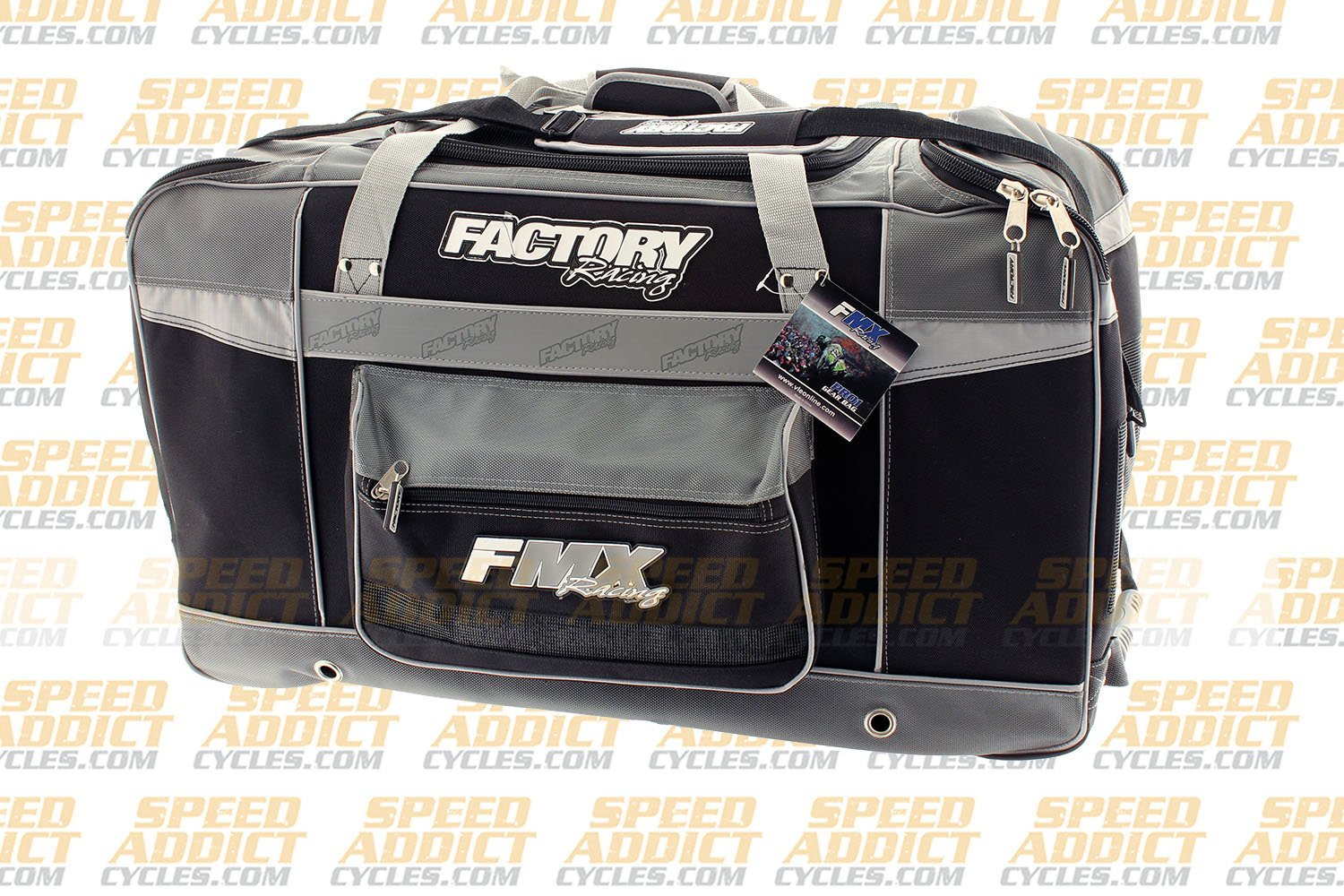 Factory FMX Motorcross Gear Bag XLarge Grey by Factory Racing (Image #2)