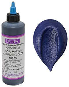 DecoPac Airbrush Color, Navy Blue, .65 Pound
