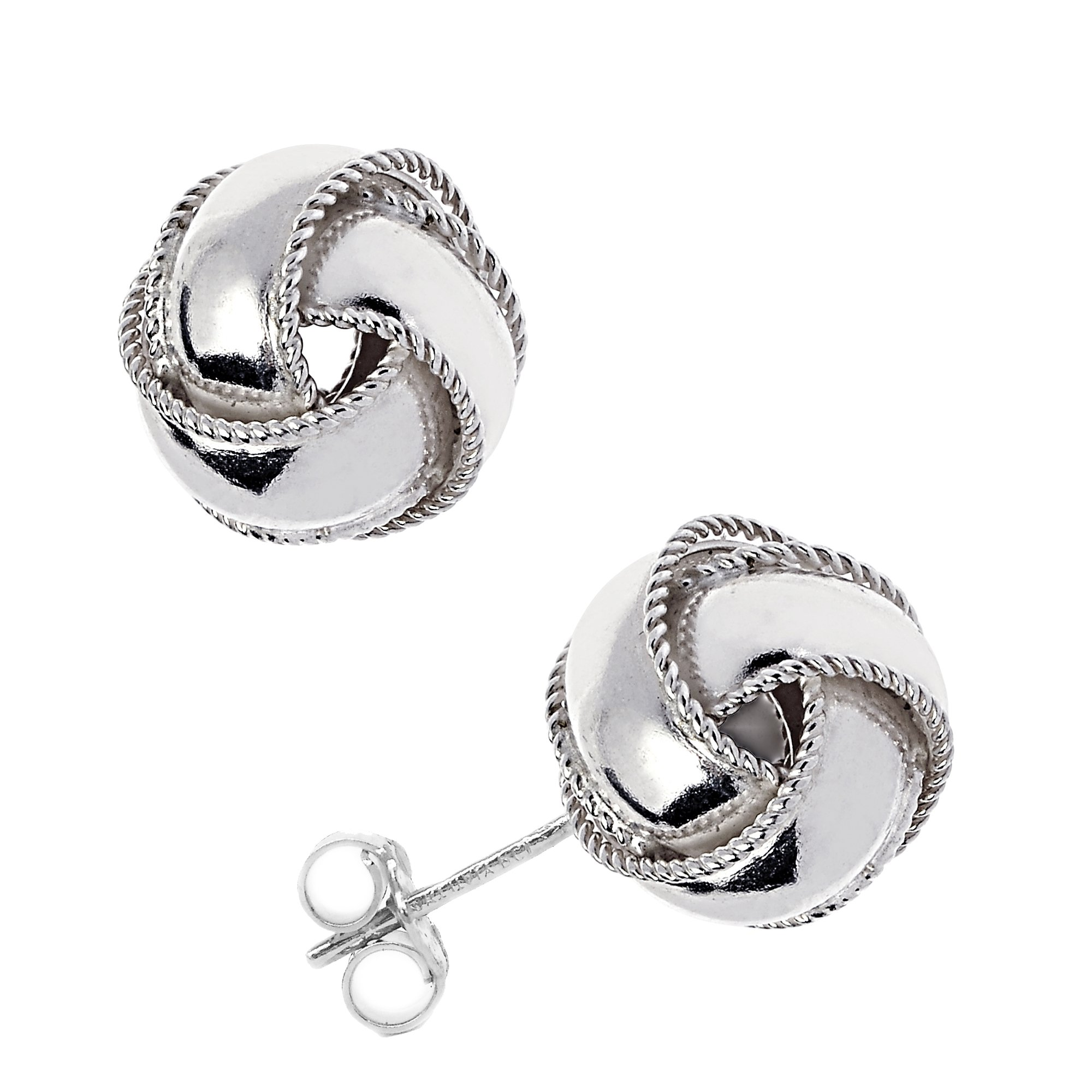 Sterling Silver Love Knot Earrings Loveknot Earrings 10mm Large