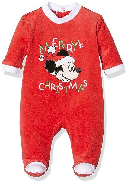 Disney Mickey Mouse Pyjama Set, Pijama Unisex bebé, Rojo (RED1), 9
