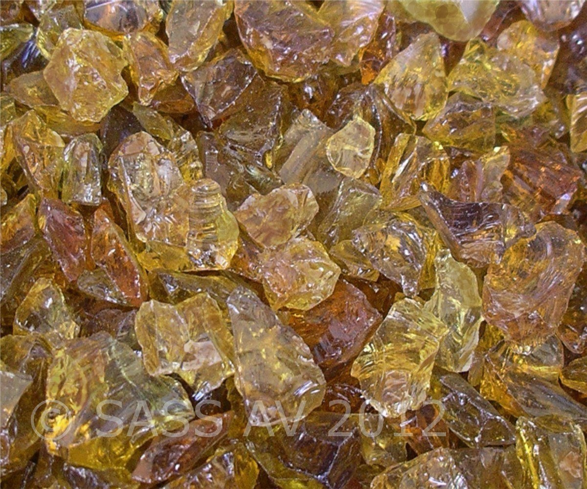 amazon com fireplace glass rocks amber 3 8 3 4