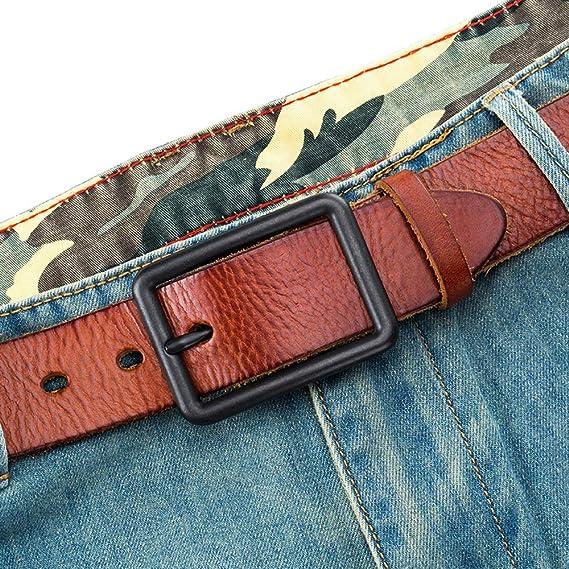 95ea3be21233 XHHWZB Ceinture en cuir pour hommes, 100% cuir pleine fleur avec boucle à  griffes anti-égratignures, idéal pour les jeans, vêtements décontractés, ...