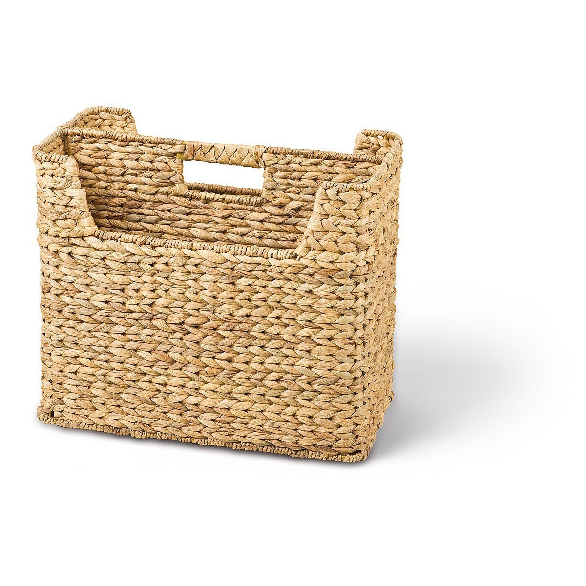 Wicker Newspaper Stand / Basket 2 Compartments 400 x 200 x 230 mm Water Hyacinth Back-Ideen