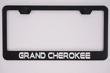 Jeep Cherokee Black Metal Licensed Frame