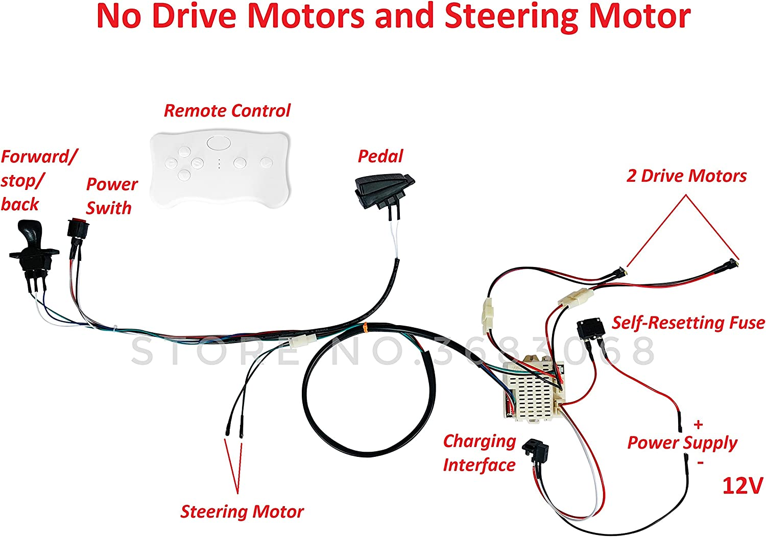 amazon.com: shengle kids electric cars 12v wiring harness remote ...  amazon.com