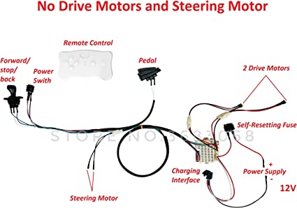 Amazon.com: SHENGLE Kids Electric Cars 12V Wiring Harness Remote Control  Circuit Borad Switch, Children Electric Ride On Car Accessories: Toys &  Games Amazon.com