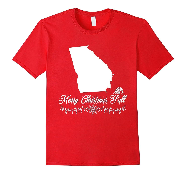 Georgia Merry Christmas Y'all State Pride T-Shirt-ANZ