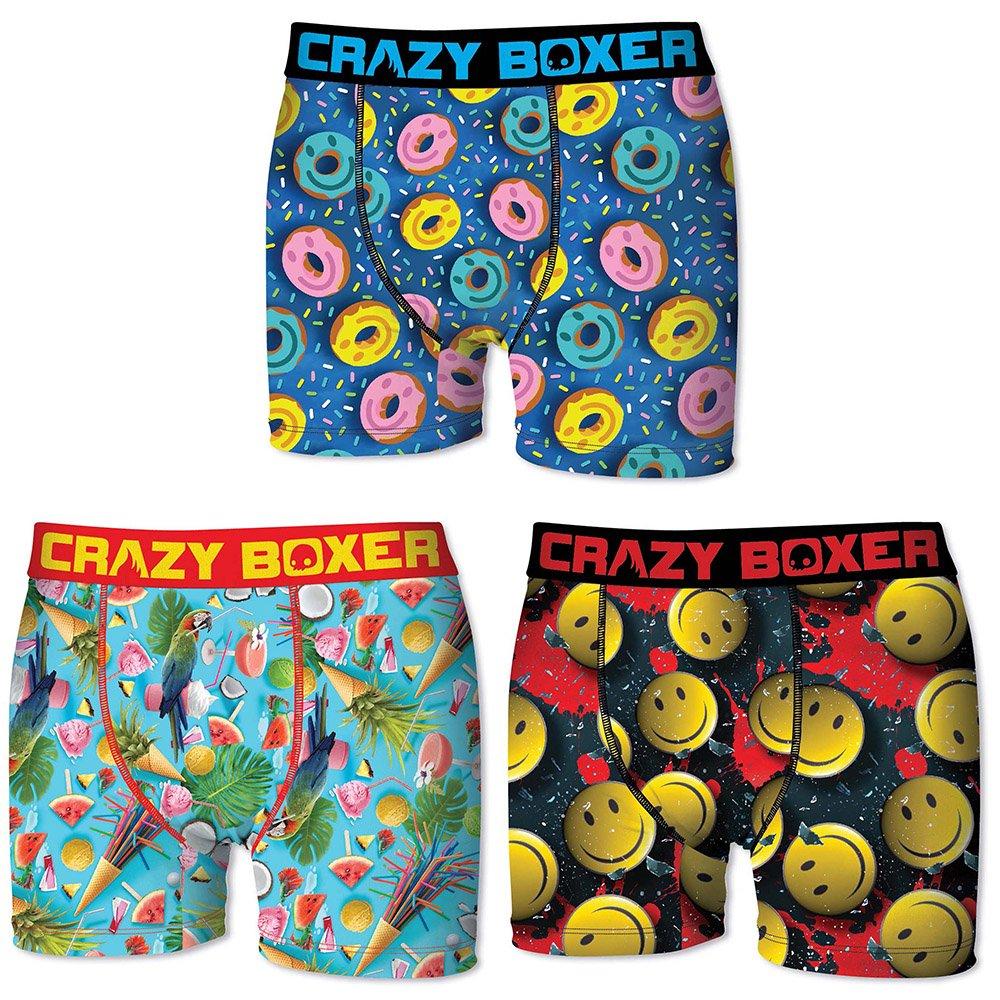 Crazy Boxer Summer 3-Pack Men's Boxer Briefs (M)