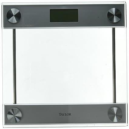 Taylor 7519-4192 - Báscula de baño (LCD, Plata, Transparente, AAA