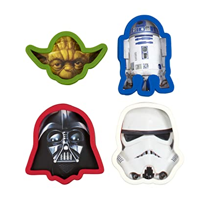 2474bb94f9193 Star Wars Cookie Cutter, Darth Vader, Yoda, Storm Trooper, R2D2 (Set of 4)