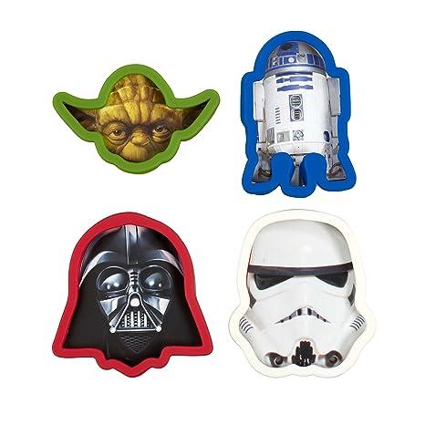 Underground Toys Moldes para Galletas Star Wars Color Blanco, Rojo y Azul 4x1.5x6