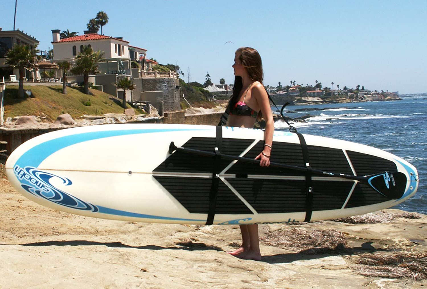 Big Board Schlepper with BELT PACK Adjustable Standup Paddle Board Surfboard Carrier Sling Shoulder Strap Better Surf...than Sorry BIG-SCHLEP-FAN