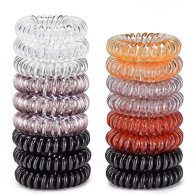 Pack of 50 Tonal Snag Free Endless Hair Elastics Bobbles Hair Bands Accessories