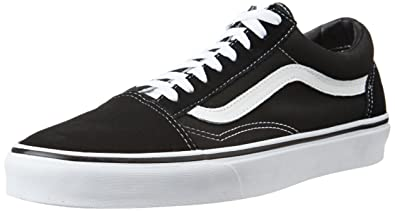 54d40e4cac44a2 Vans Unisex Old Skool Black Leather Leather Sneakers - 9 UK India ...
