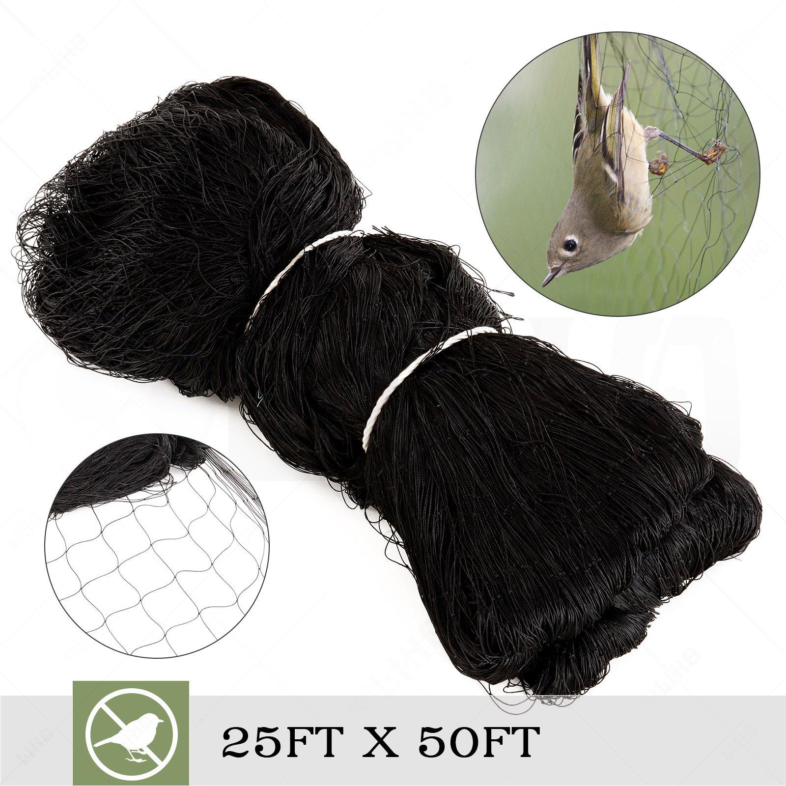 "Superworthboutique 25'x50' Anti Bird Garden Netting Bird Netting For Fruit Trees Aviary Poultry Net Nylon 2"" Square Mesh"